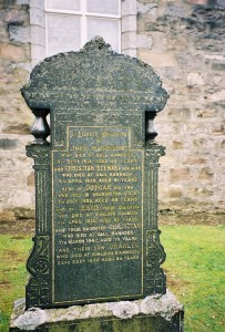 Gravestone in Kinloch Rannoch church yard - In loving memory of John MACGREGOR who died at Dall Rannoch 11th Decr. 1912, aged 86 years and Christian STEWART his wife who died at Dall Rannoch 5th April 1920, aged 91 years. Also of Duncan [MACGREGOR] his son who died in Washington U.S.A. 7th July 1906, aged 49 years. and of Jesse [MacGREGOR] their daughter who died at Kinloch Rannoch 11th April 1935, aged 83 years. and their daughter Christian who died at Dall Rannoch 7th March 1924, aged 79 years. and their son Charles [MscGREGOR] who died at Kinloch Rannoch 22nd Decr. 1952 aged 84 years