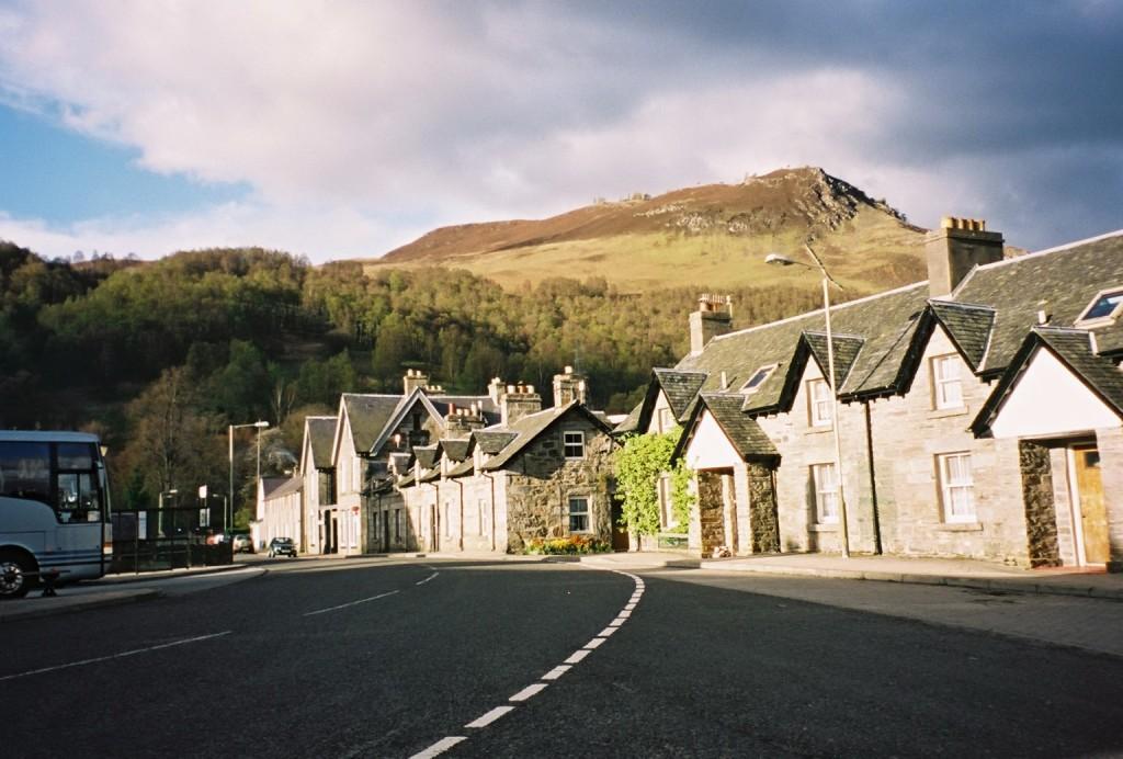 Kinloch Rannoch, Perthshire, Scotland - Alt Mor Place ( B846) .