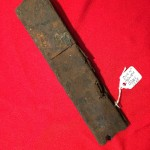 Sten Gun magazine relic dug up at the bridge at Arnhem.