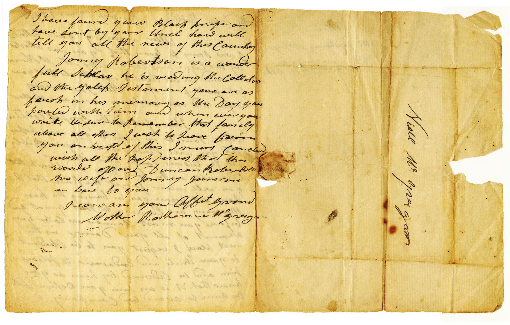 2/2 Letter from Catherine McGregor to Neill on March 27, 1832