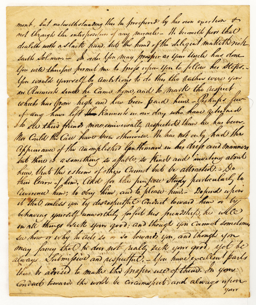 The second page of a four page letter from Duncan Campbell to Neil McGregor of 24 March 1832.