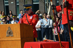 2016-03-31 RCMP Speech by member with over 25 years of service in the RCMP, new mace ceremony Surrey BC (108)