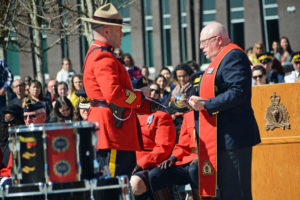 2016-03-31 RCMP The Chaplin blesses the new mace Surrey BC (116)