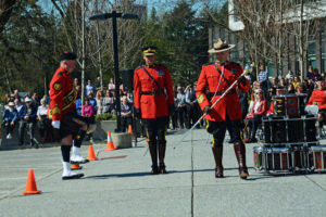 Sergeant Major Hall brings the new mace forward for the presentation, Surrey BC (131)