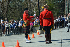 2016-03-31 RCMP Drum Major receives the