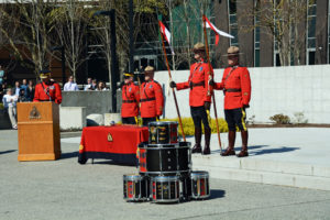 2016-03-31 RCMP Band new mace - drum head ceremony Surrey BC (140)