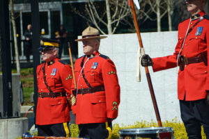 2016-03-31 RCMP Band new mace ceremony Sergeant Major Hall on right. Surrey BC (146)
