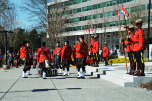 2016-03-31 RCMP Band new mace ceremony, retrieving drums Surrey BC (149)