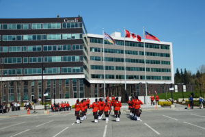 2016-03-31 RCMP Band new mace Marching past the saluting stand Surrey BC (155)
