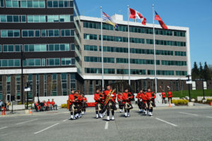 2016-03-31 RCMP Band new mace Marching past the saluting stand Surrey BC (165)