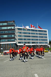 2016-03-31 RCMP Band new mace Marching past the saluting stand Surrey BC (168)