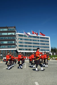2016-03-31 RCMP Band new mace Marching past the saluting stand Surrey BC (169)