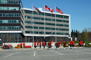 2016-03-31 RCMP Band new mace Marching past the saluting stand Surrey BC (180)
