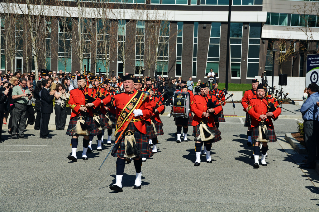 2016-03-31 RCMP Band new mace Surrey BC