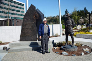 2016-03-31 RCMP Memorial with Maury Low, veteran of the BCPP and RCMP, Surrey BC (196)