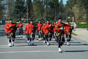 2016-03-31 RCMP Band marching in to receive their new mace Surrey BC (58)
