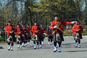 2016-03-31 RCMP Band marching in to receive their new mace Surrey BC (63)