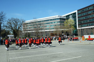 2016-03-31 RCMP Band marching in to receive their new mace Surrey BC (73)