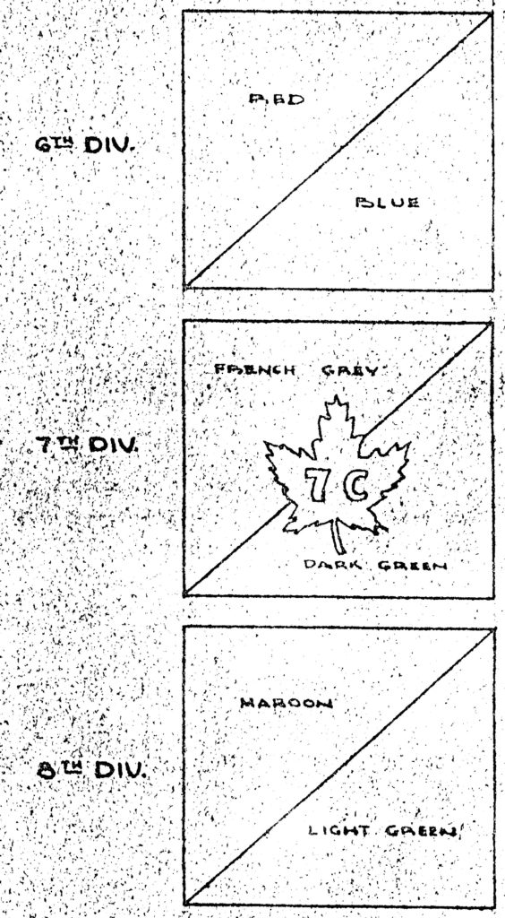Canadian 6,7 & 8 Divisions formation signs.