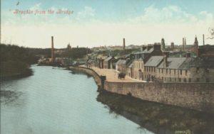 Brechin from the Bridge (Circa 1910) PC Valentines post card # 03433