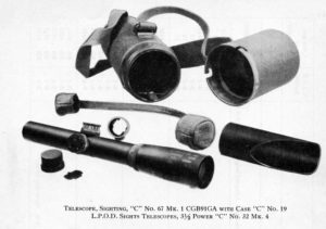 C No 32 MK 4 later called the C No 67 MK 1 rifle scope, made by REL Canada.