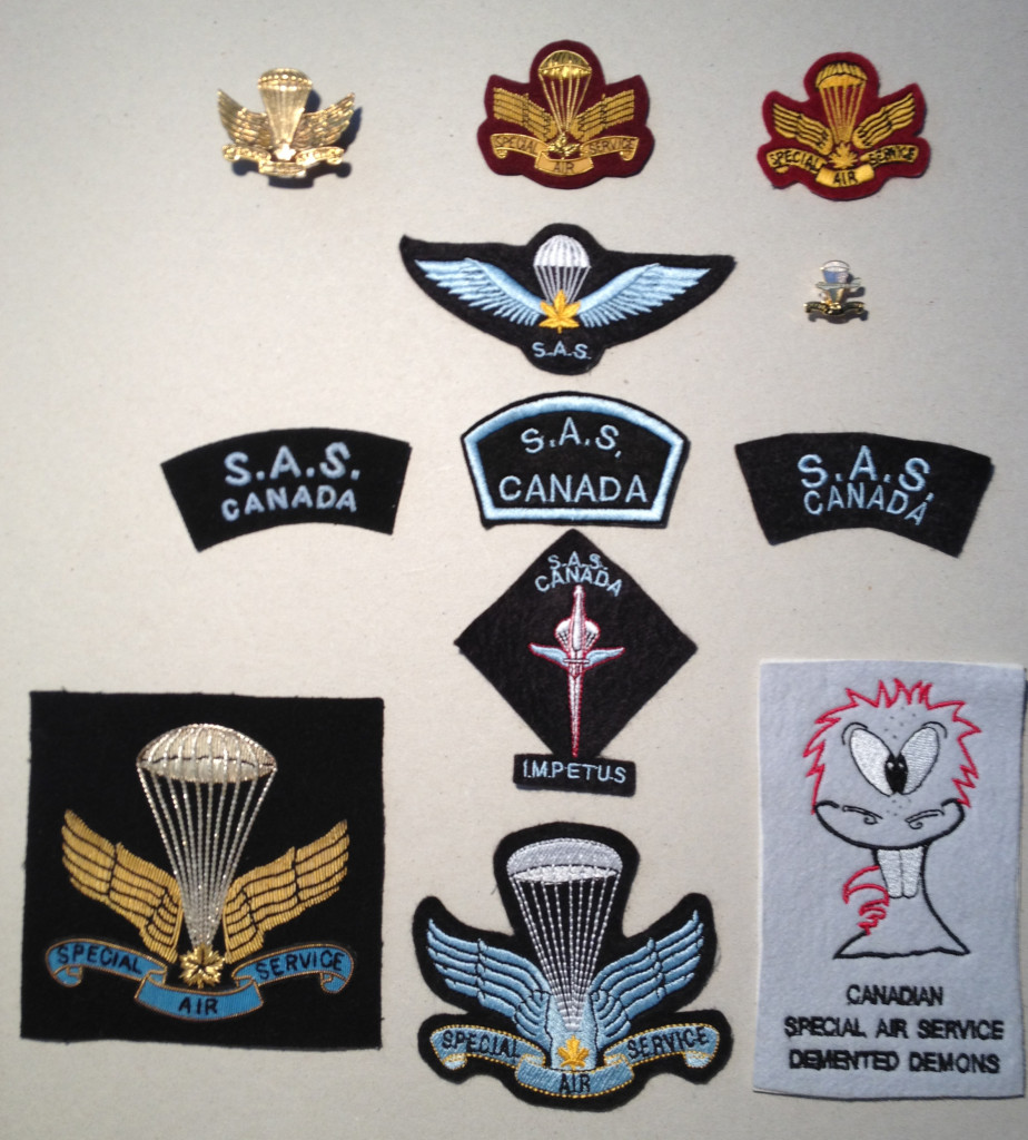 Canadian SAS Company insignia commemorative set