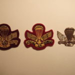 Canadian SAS Association Commemorative three types of cap badges - fronts.