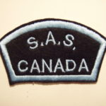 Canadian SAS Association Commemorative shoulder title with border.