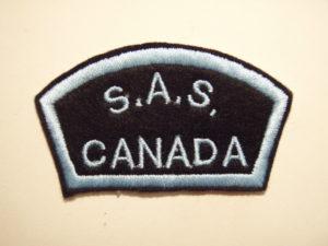 Canadian SAS Association Commemorative shoulder title with border.