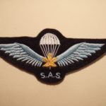 "Canadian SAS Association Commemorative parachute badge (""wings"")."