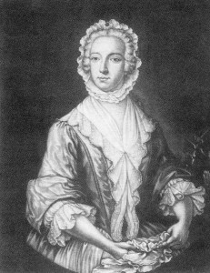 "Bonnie Prince Charlie disguised as ""Betty Burke"", maid - Artist J. Williams, NLS"