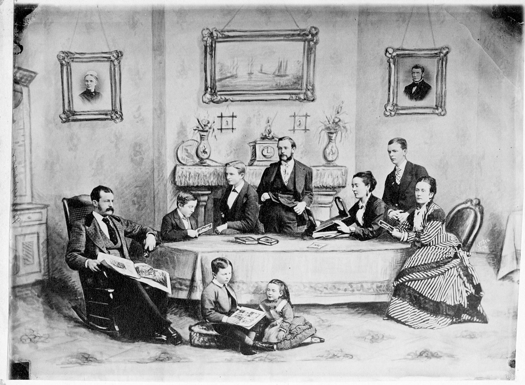 Duncan MacGregor's Family in 1876 after he died. Composite photo.