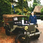 Colin Stevens with this MB jeep at a Battle of Britain Parade.