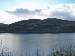 Loch Rannoch south shore which has the Black Woods.