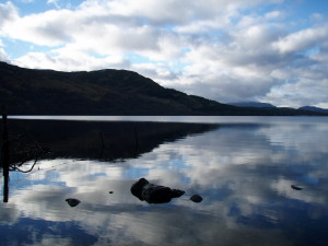 View up the loch from Kinloch Rannoch, Loch Rannoch, Perthshire, Scotland