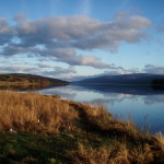 Still waters on a Scottish lake. Loch Rannoch, Perthshire, Scotland 2