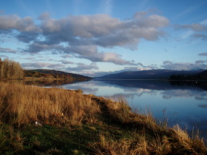 Still waters on a Scottish lake. Loch Rannoch, Perthshire, Scotland 2