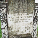 Tombstone of Jessie Stewart 1932 w of WS McGregor & William McGregor 1981 in Fortingall Churchyard. Photo by CMS