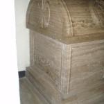 End of casket of Bonnie Prince Charlie & King James