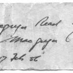 Bonnie Prince Charlie's razor - The note, side