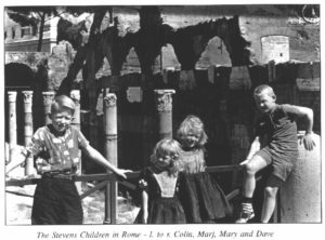 Stevens children in Rome near the Foro Romano 1961-1962
