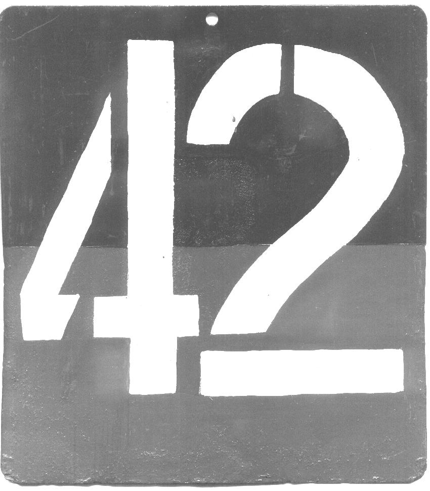 PASS plate/Unit Sign. The unit sign side was repainted by Dennis Cardy in the 1970s.