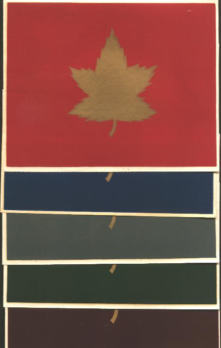 5 decals for Canadian Divisions in World War II.