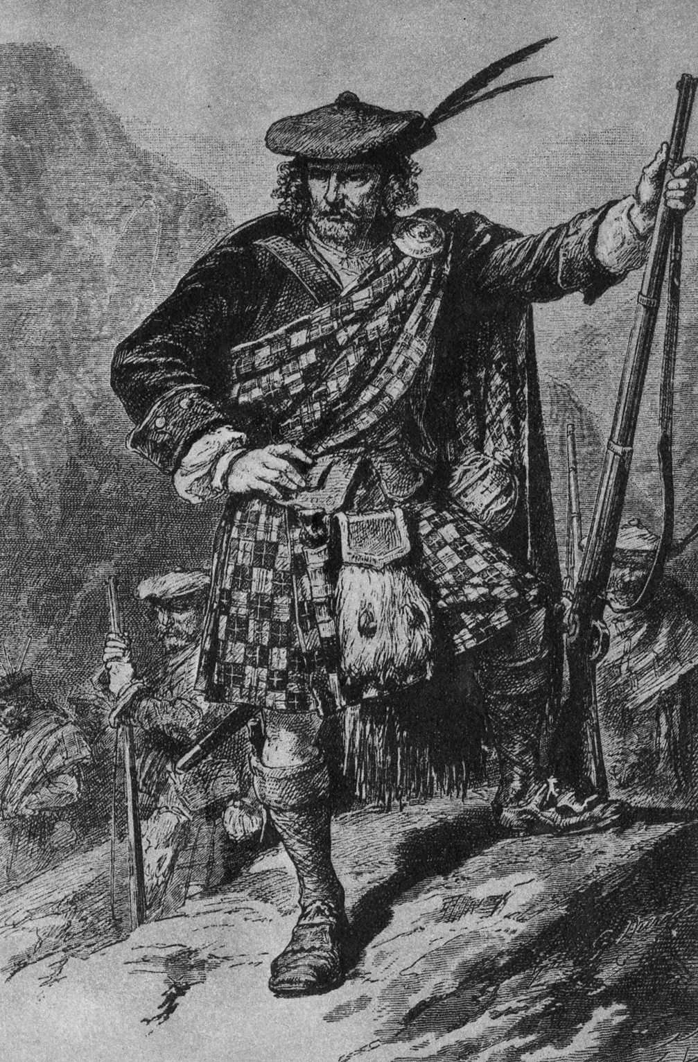 Rob Roy MacGregor, also known as Rob Roy Campbell during the proscription against the MacGregors.