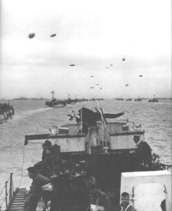 Canadian troops with BSA Airborne Bicycles on board their Landing Ship, enroute to Normandy, June 5-6 1944.