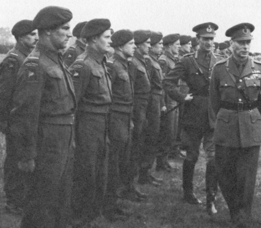 C Coy 1CPB and King George VI May 1944