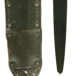 "1 Canadian Parachute Battalion ""Killing Knife"" Note that the tip of the blade had broken off and it had been resharpened crudely. Formerly in Colin M Stevens' Collection."