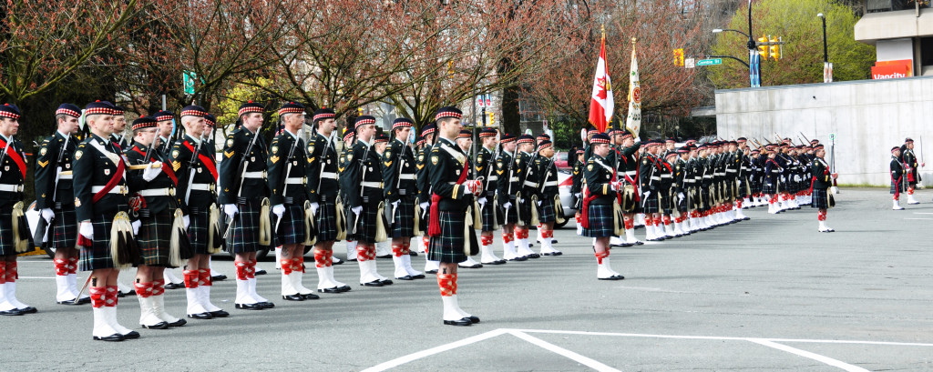 The Seaforth Highlanders of Canada on an exercising the Freedom of the City parade in Vancouver. - Photo by Colin MacGregor Stevens