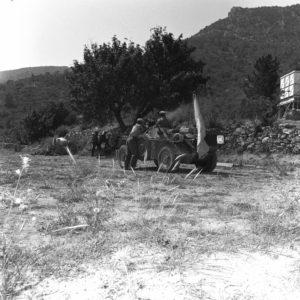 Ferret in combat firing at Turks UNFICYP Cyprus 1964 DND photo CYP64-56-1