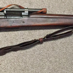 A late 1943 M1903A4 serial number 3422193. This rifle is original with the blued finish but the M73B1 scope has been refurbished by the military.